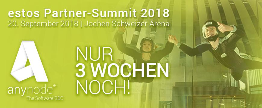 Nur noch 3 Wochen bis zum estos Partner-Summit 2018