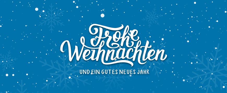 Fröhliche Weihnachten und einen guten Start ins neue Jahr 2019